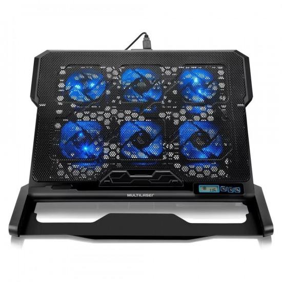 Cooler para Notebook com 6 fans LED Azul Hexa Cooler - AC282 50