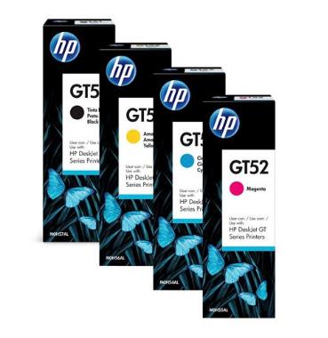 Garrafa de Tinta HP GT51 Preto, GT52 Magenta, GT52 Ciano, GT52 Amarelo