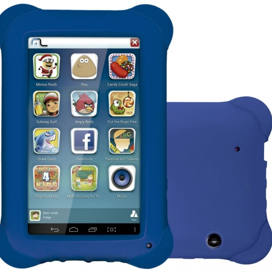 Tablet Multilaser Kid Pad Azul Quad Core - NB194