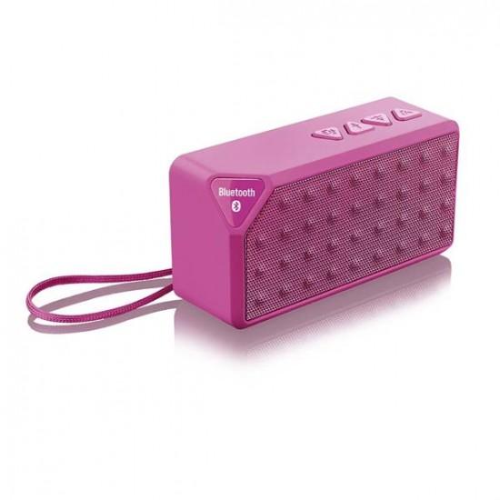 Caixa De Som Bluetooth 8w Rms Hands Free Micro Sd Aux Rosa - Sp175