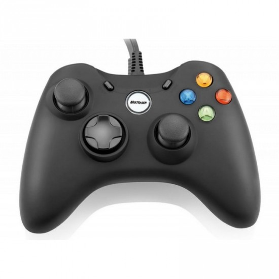 Controle Game Multilaser Dual Shock Preto Xpad Pc/xbox360 - Js063