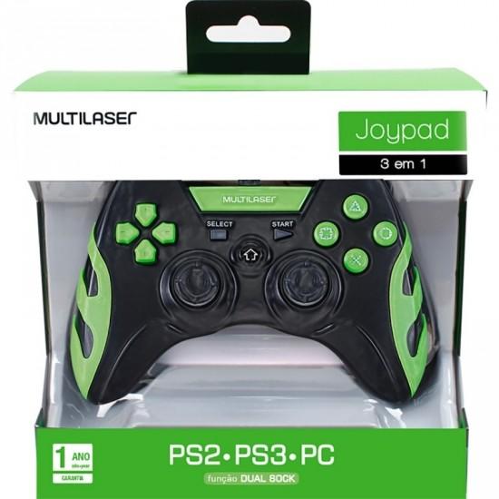 Controle PS2 PS3 PC Joypad JS081 - Multilaser